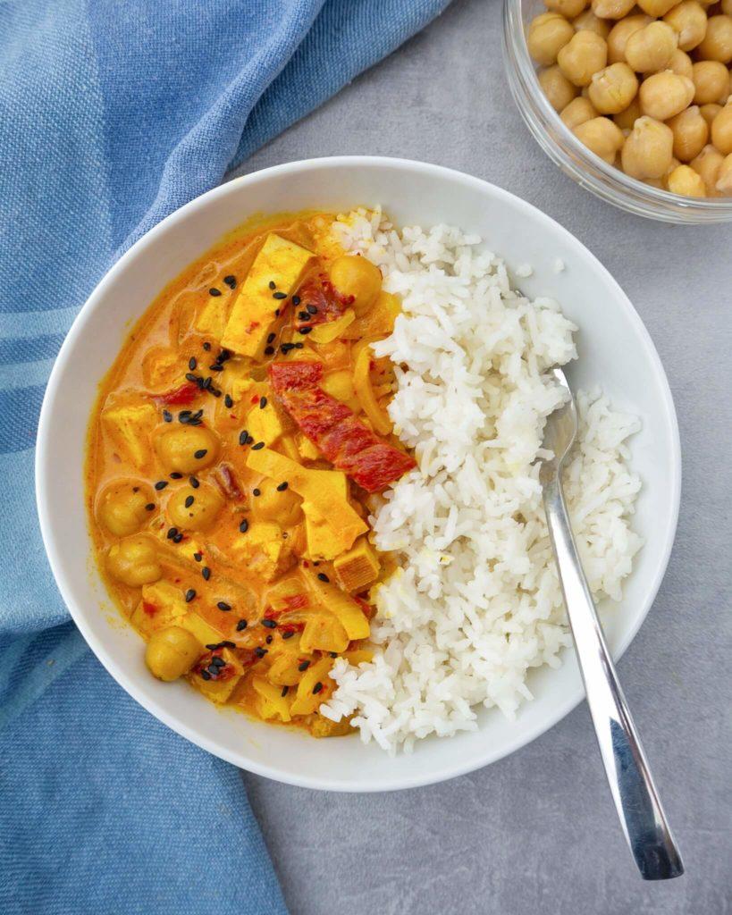 Curry Tofu Vegan