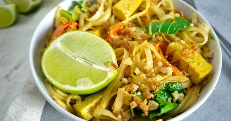 Veganes Pad Thai mit Tofu
