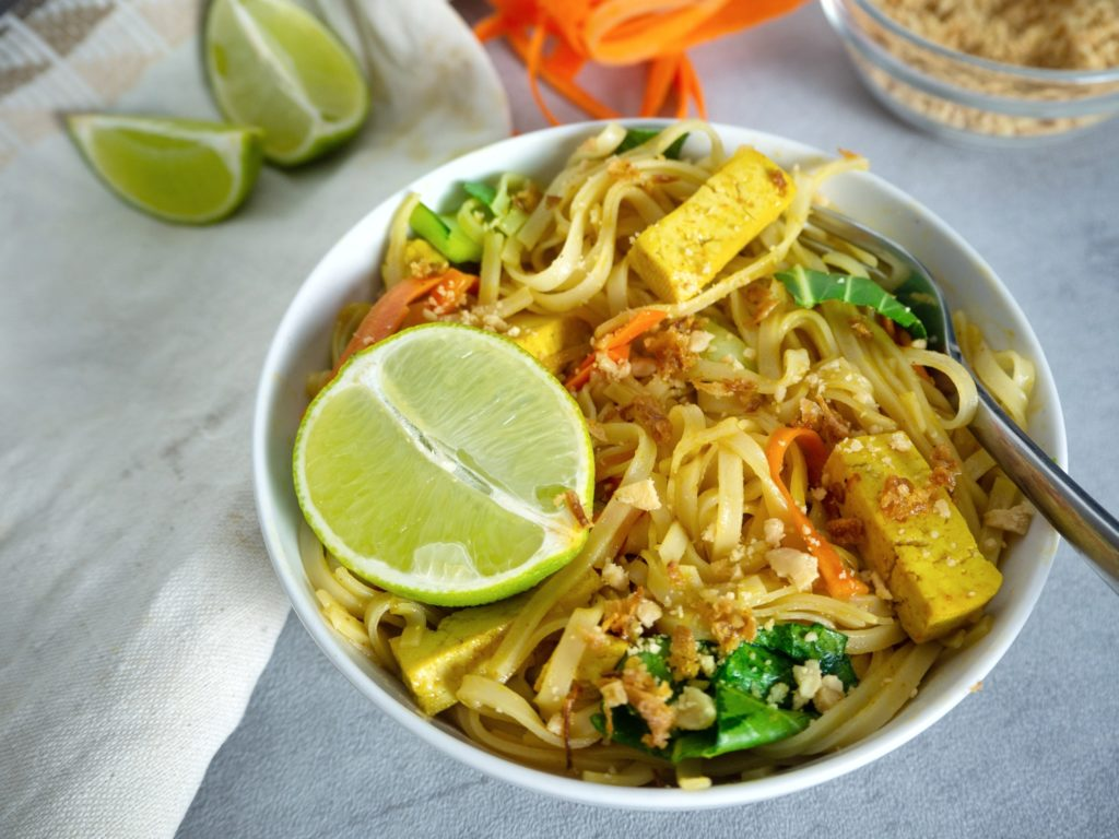 rice noodles with pad thai