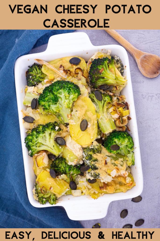 Vegan Cheesy Potato Casserole