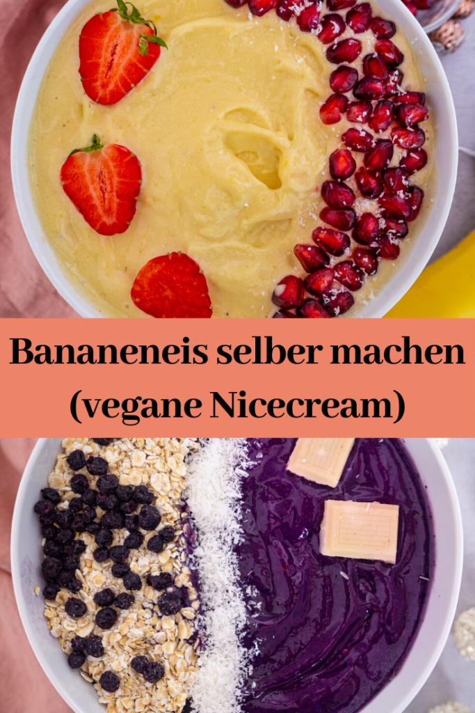 Bananeneis selber machen (vegane Nicecream)