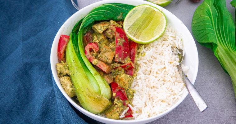 Grünes Thai Curry mit Tofu