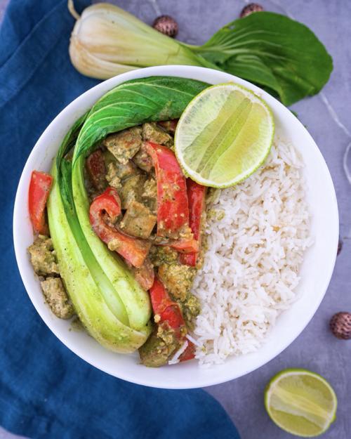 Grünes Curry mit Tofu Mini