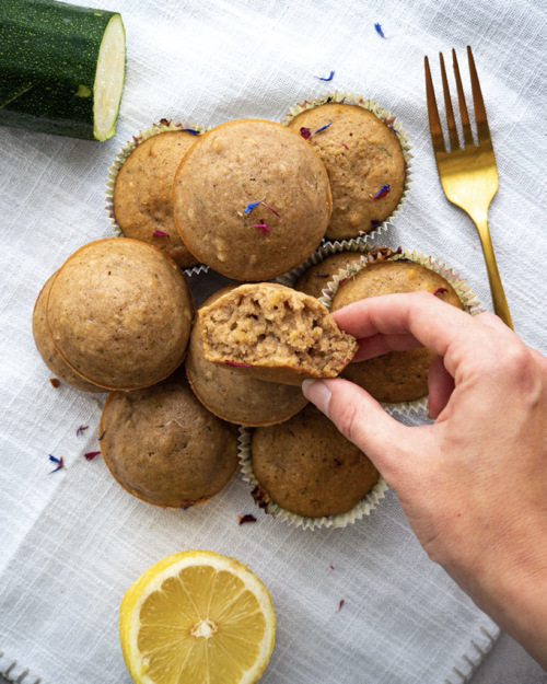 Healthy Lemon Zucchini Muffins