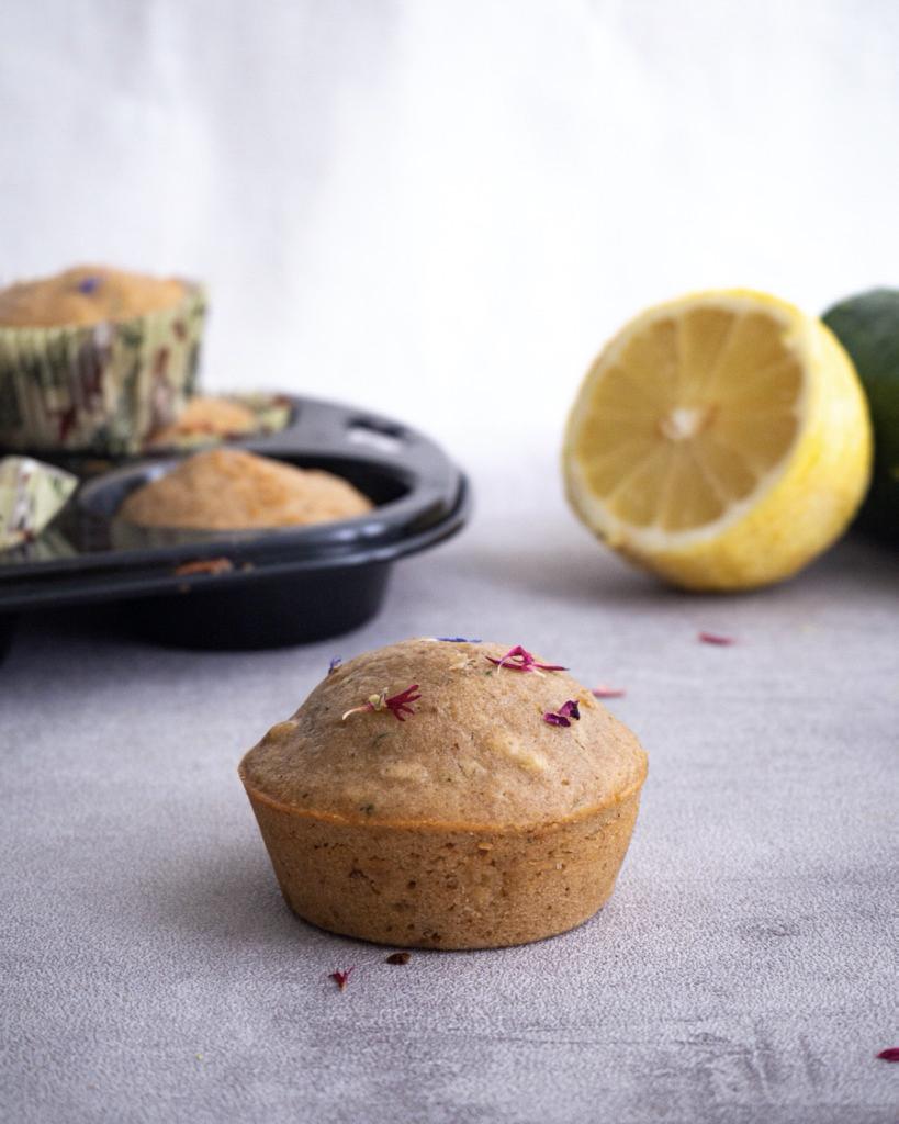 Vegan Zucchini Lemon Muffins