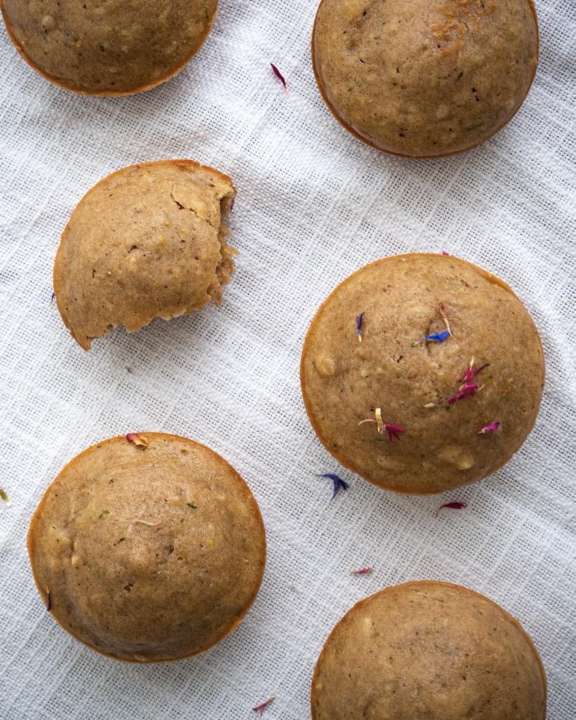 Zucchini Zitronen Muffins