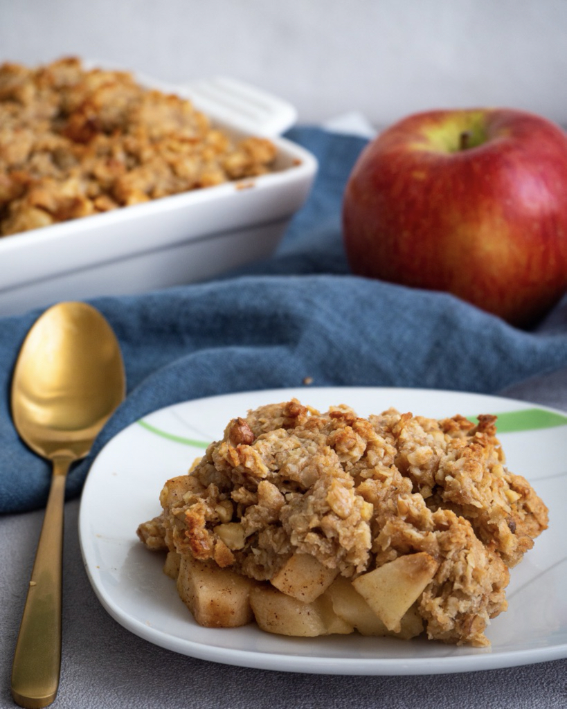 Veganes Apple Crumble