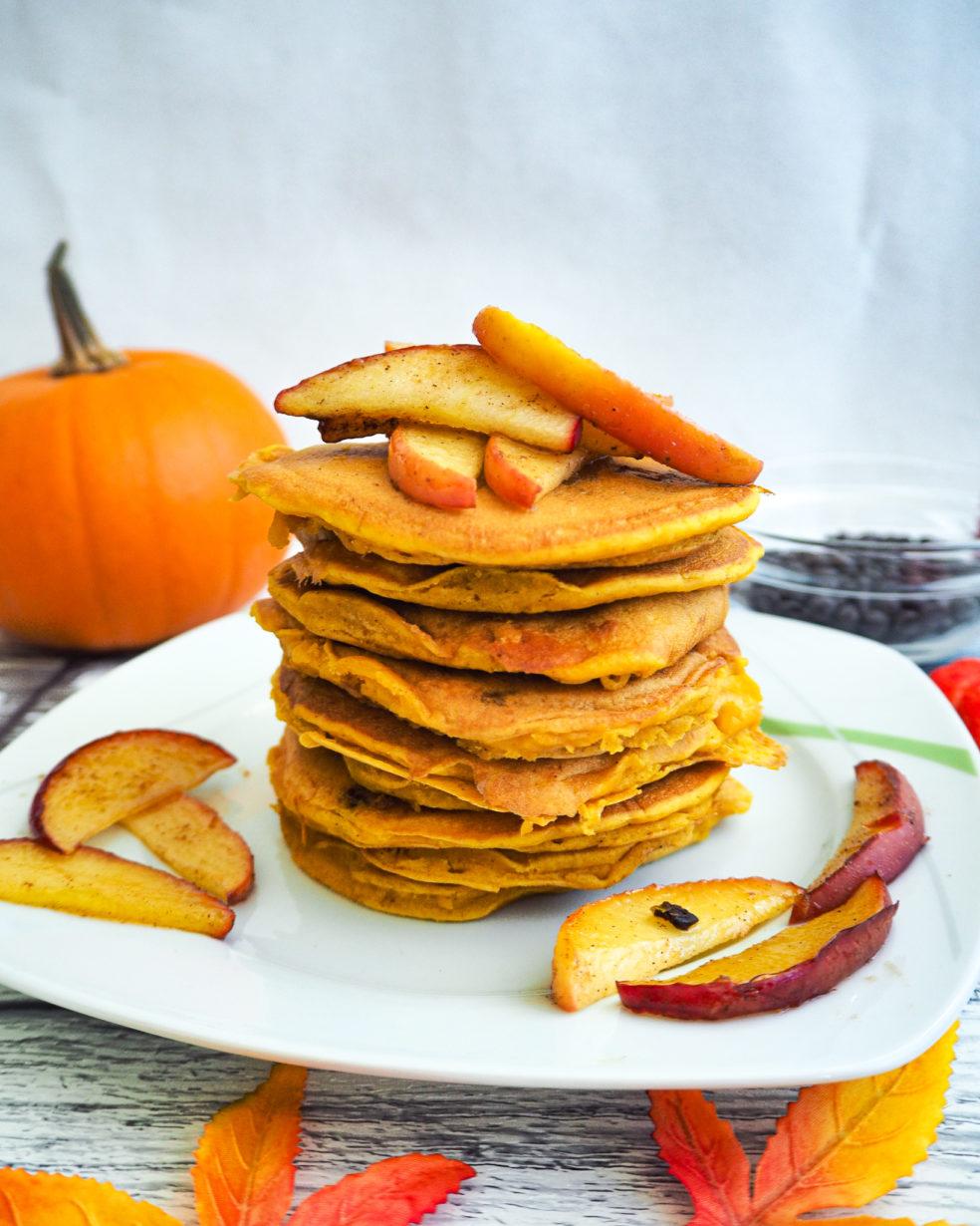 vegane Pancakes mit Kürbis