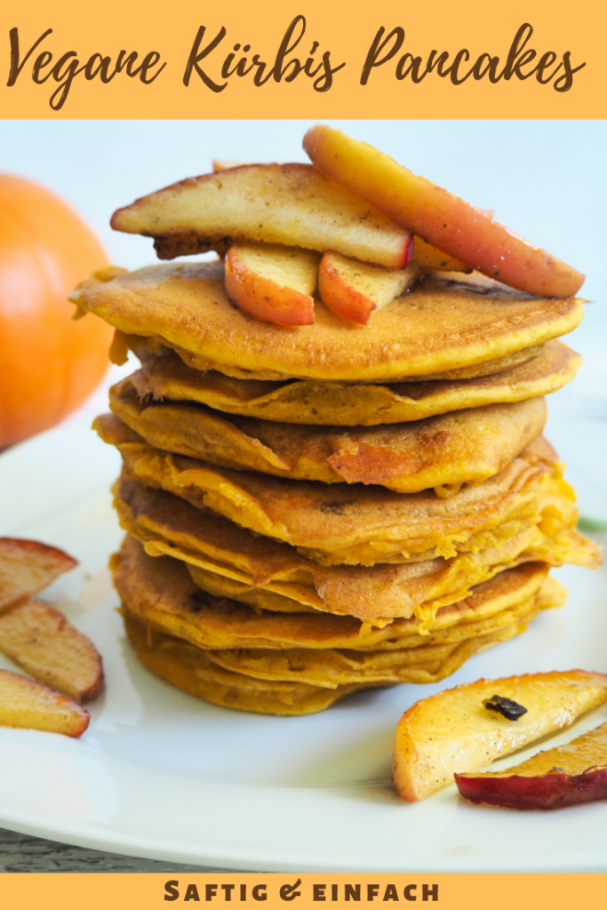Vegane Kürbis Pancakes