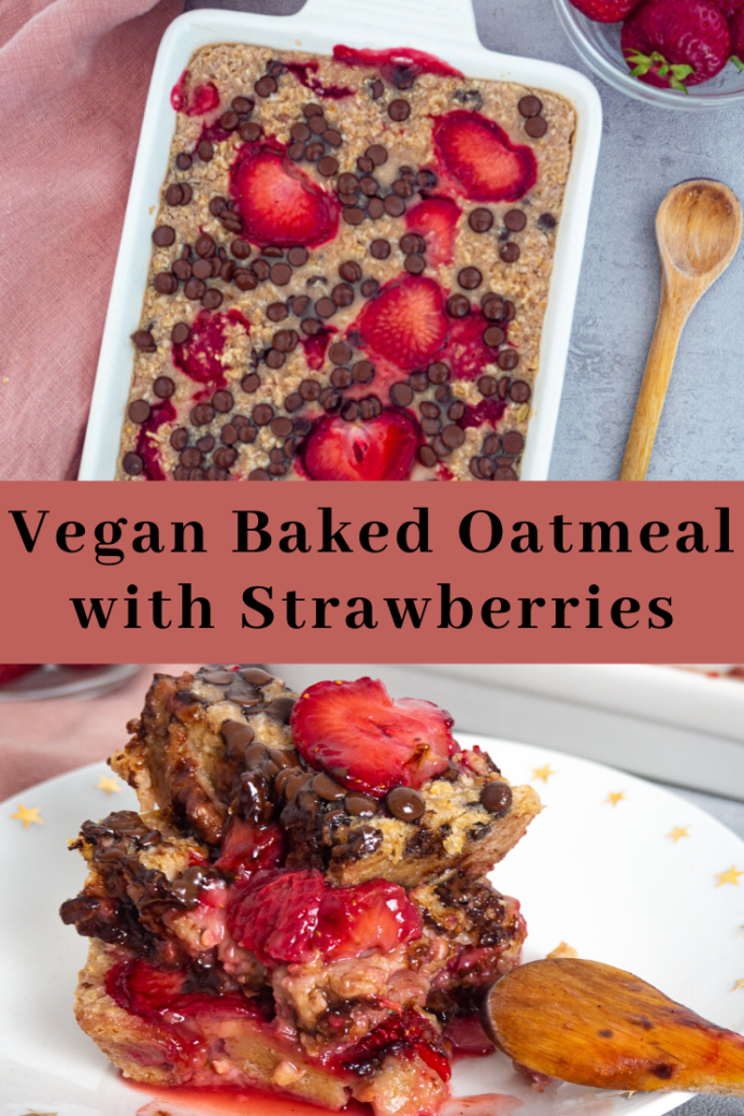 Vegan Baked Oatmeal with Strawberries