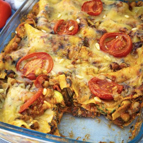 Close Up Gemüse Lasagne