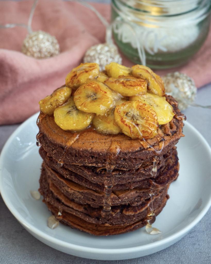 Dinkel Pancakes mit Schoko