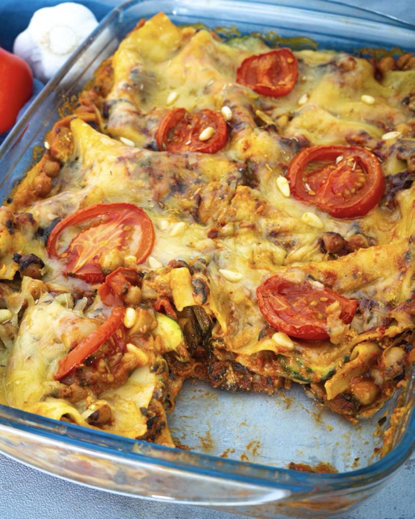 Einfache Vegane Gemüse Lasagne