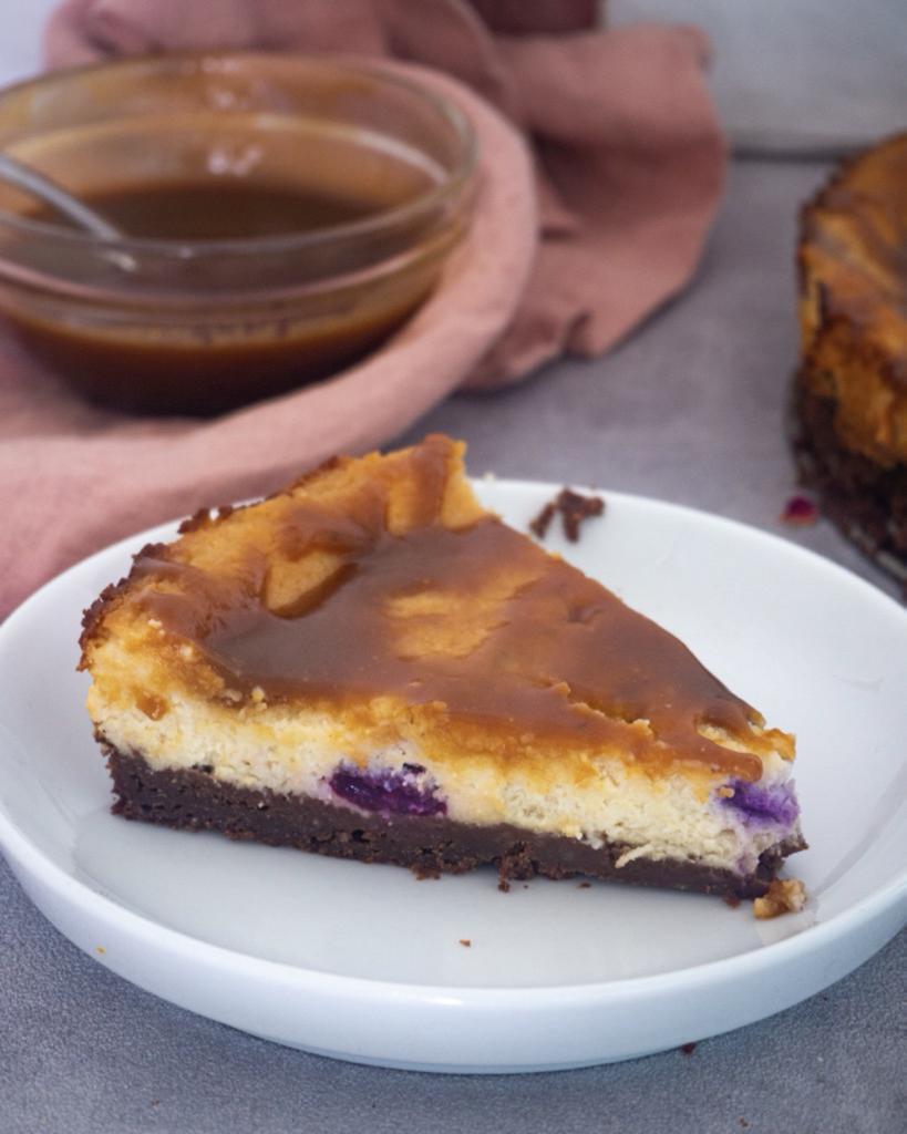 Kuchen mit Salzkaramell