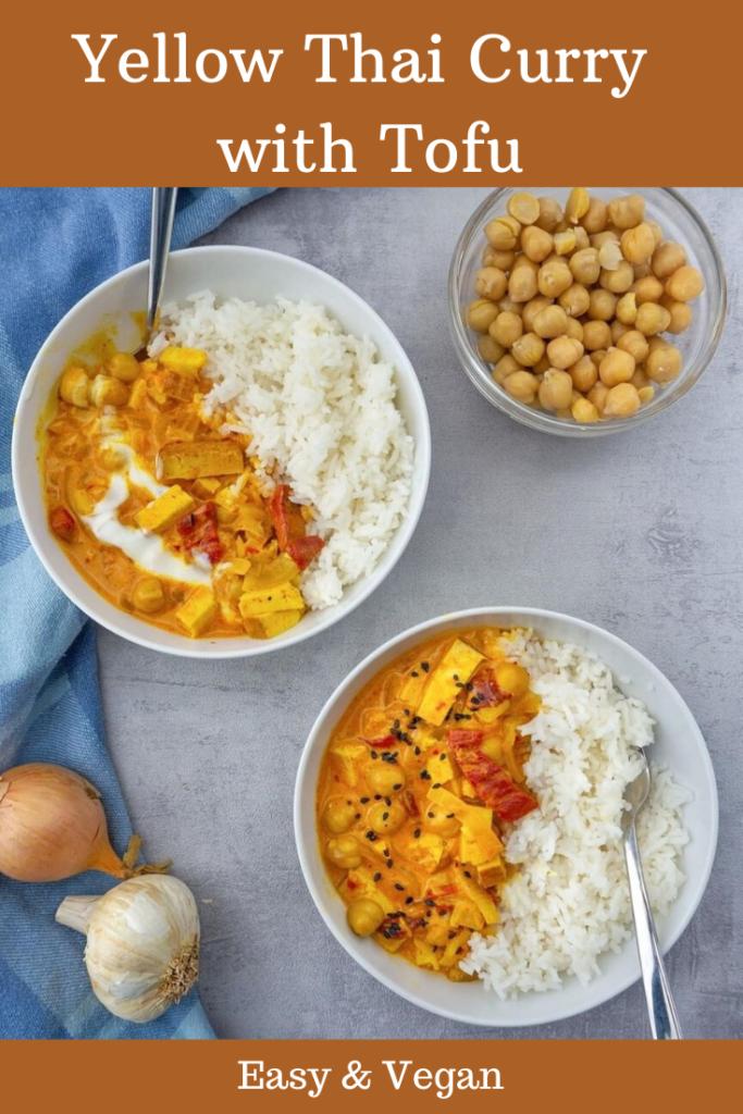 Yellow Thai curry with tofu