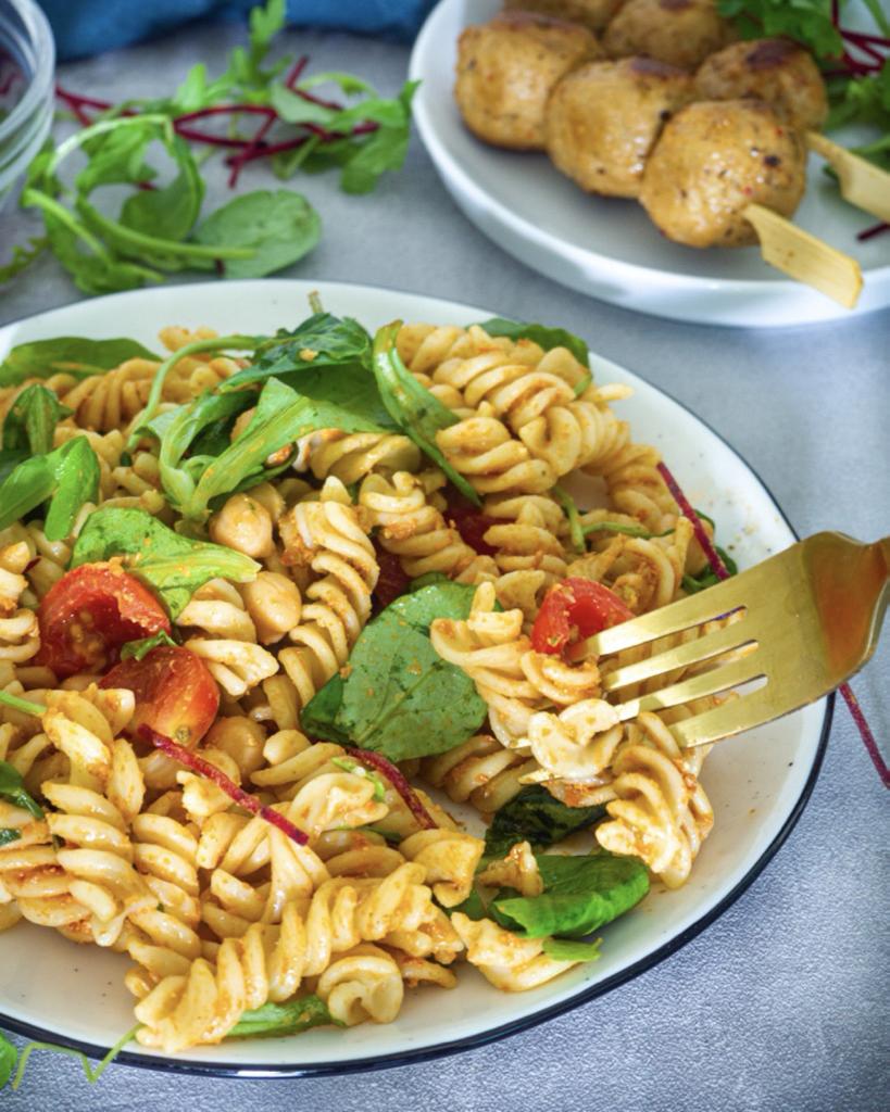 Close Up Pasta Salad