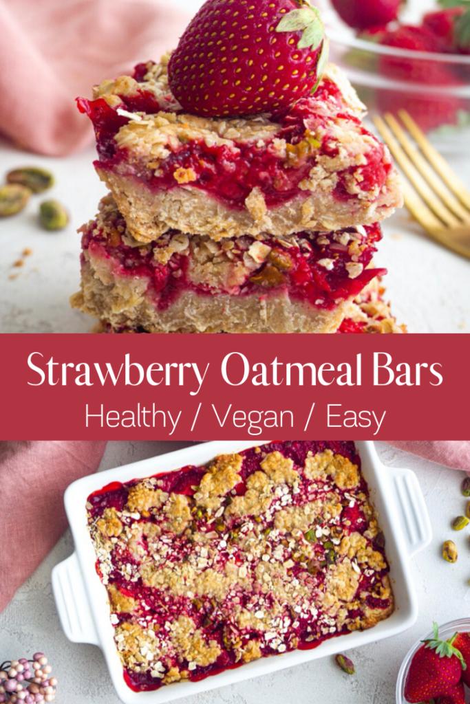 Vegan Strawberry Oatmeal Bars