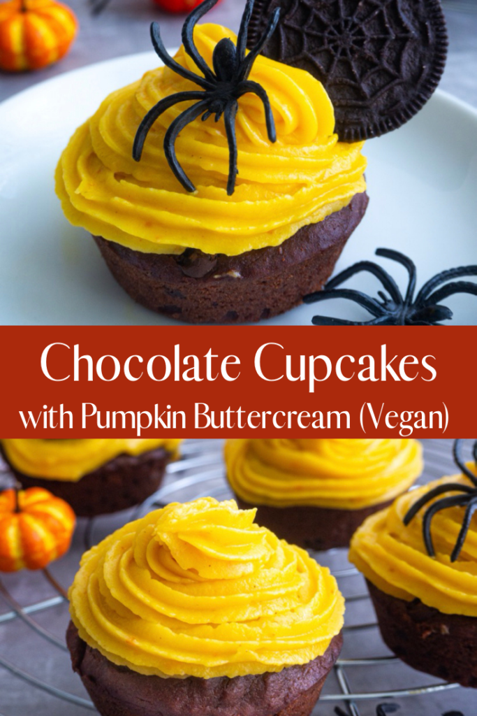 Chocolate Cupcakes with Buttercream Frosting Pint