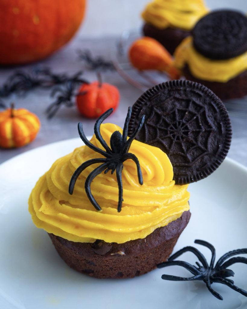 Halloween Schoko Cupcakes