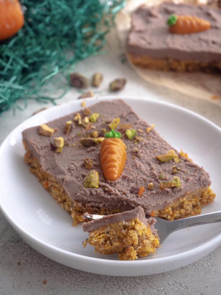 Vegane Carrot Cake Schnitten
