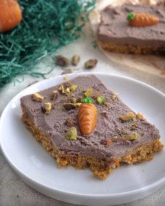Vegane Carrot Cake Schnitten Mini