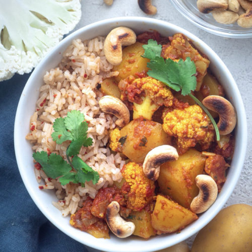 Indisches Curry Blumenkohl Rezept Mini