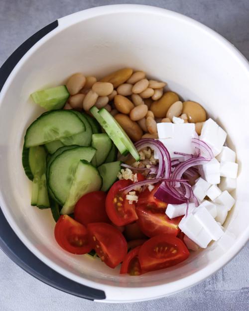 Bunte Zutaten Salat
