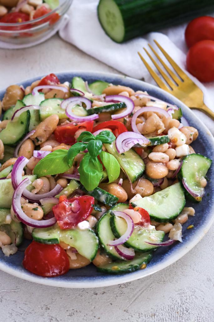 Weisser Bohnensalat Vegan